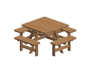 Alle Picknicktafels