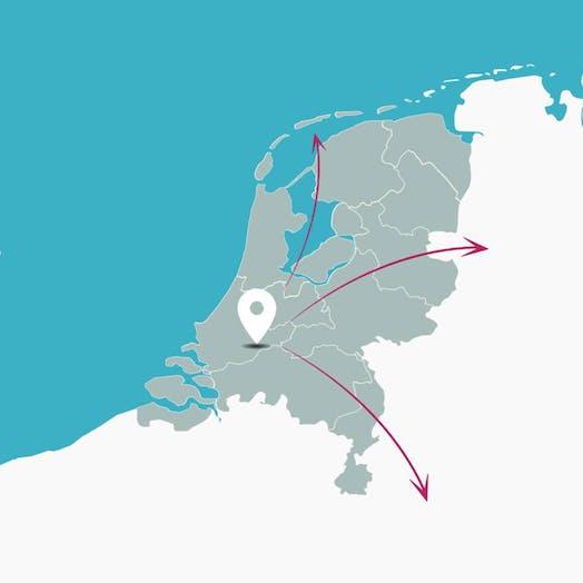 bezorgen nederland kaart shopped 2